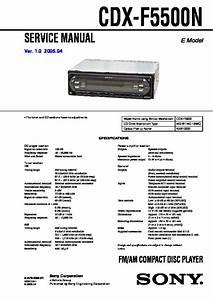 Sony Cdx F5500 Wiring Diagram
