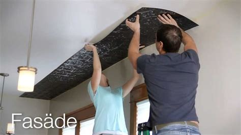 fasade glue  ceiling panel installation youtube