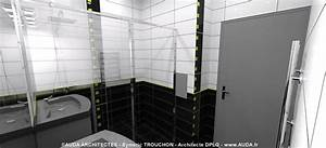 stunning salle de bain contemporaine grise et blanche With salle de bains grise