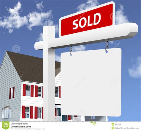 home sold real estate sign royalty  stock image