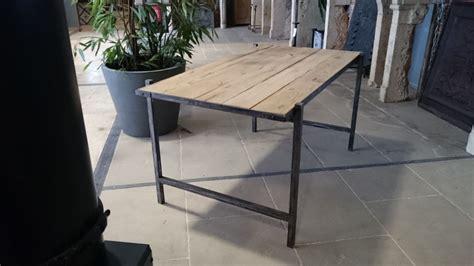 bureau fer bureau en fer et vieux bois vieux chêne de récupération bca matériaux
