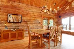 Log Cabin Dining Room Interior Custom Furniture Decor Rustic Interior Design For The Living Room