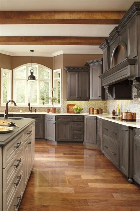 Painting Stained Cabinets Traditional Kitchen With Gray