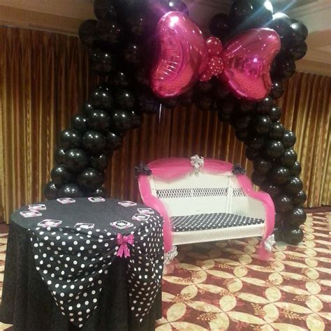 Minnie Mouse Polka Dots Baby Shower Party Ideas  Photo 3