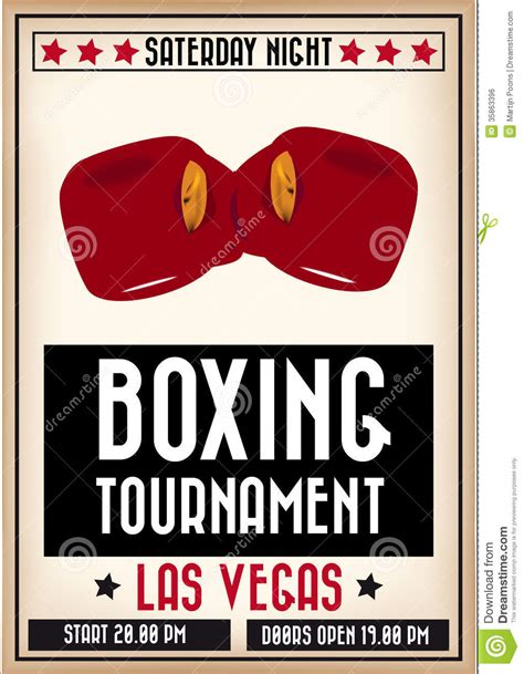 Retro Boxing Poster Royalty Free Stock Image   Image: 35863396