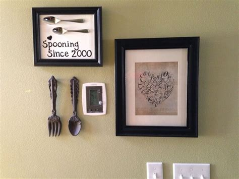 diy kitchen wall decor hometalk diy easy framed kitchen spoon wall