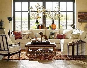 African theme living room african style pinterest for Pottery barn living room ideas