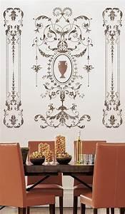 Schablonen Für Die Wand : wand schablone versailles seite panel lg erstaunliche details elegante franz sische dekor ~ Watch28wear.com Haus und Dekorationen