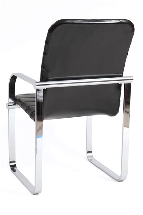 6 leather chrome arm chairs modern furniture
