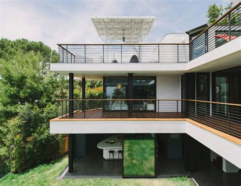 curvy futuristic architecture presenting gray  white theme housebeauty