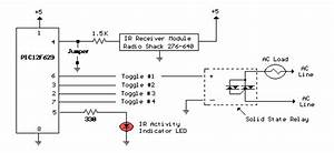 Pic12f629 Decoded Ir Toggle Switch Circuit