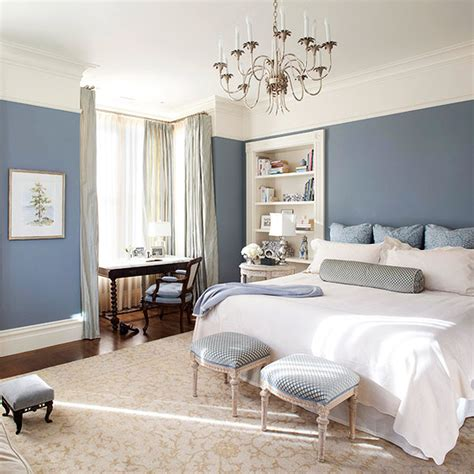 Bedroom Wall Writing Ideas by Curtains For White Walls In A Bedroom Interior Blue