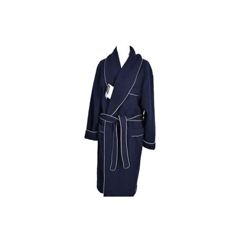 robe de chambre des pyr s robe de chambre homme 100 des pyrenees marine