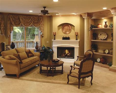Living Room Design Around Fireplace by Furniture Placement Around Corner Fireplace Design