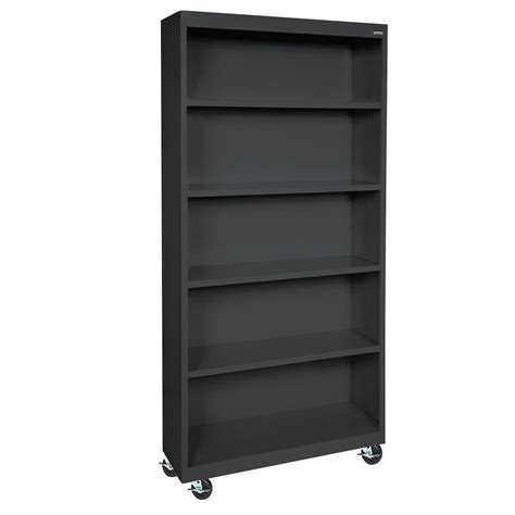 Steel Bookcase by Sandusky Black Mobile Steel Bookcase Bm40361872 09 The