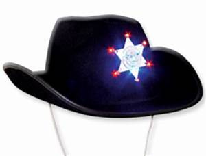 LED Sheriff Cowboy Hat