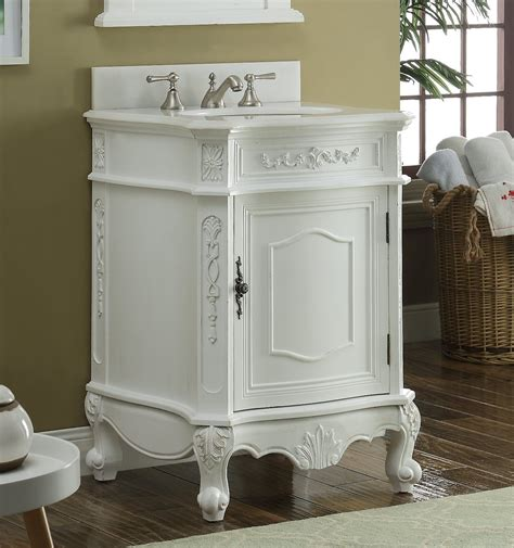 bathroom vanity classic antique white color