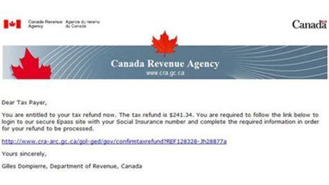bureau de revenu canada alerte à la fraude un faux remboursement d 39 impôt de