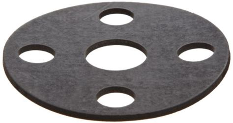 Viton Fluoroelastomer Flange Gasket, Full Face, Black