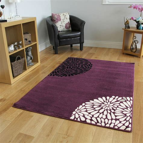 small bedroom rugs small large purple aubergine modern rugs quality soft 13266 | s l1000