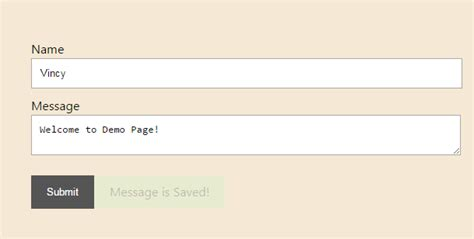 jquery fade out message after form submit phppot