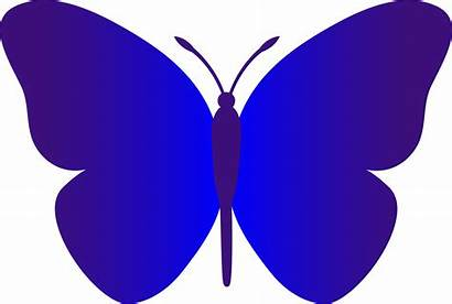 Butterfly Simple Clip Dark Indigo Sweetclipart