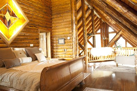 Small Cabins  Lofts Log Home  Loft Bedroom