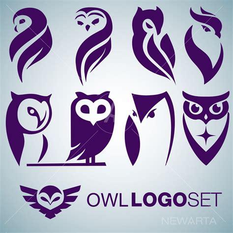 Owl Logo Set Newarta
