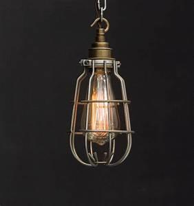 Es enclosed cage industrial pendant vintage lighting