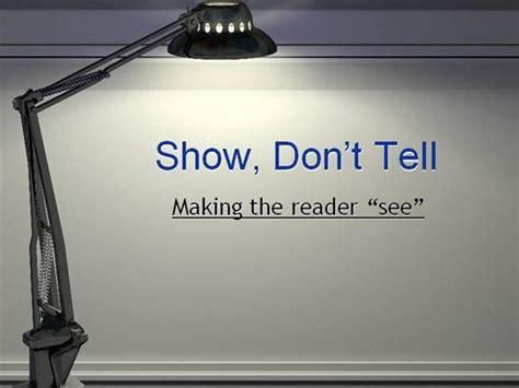 Show Don't Tell Authorstream
