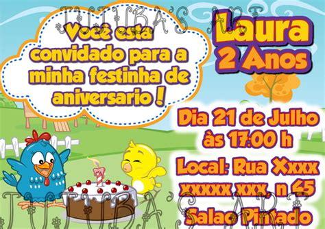 Convite Galinha Pintadinha 10x15cm no Elo7 Jujuba's Art