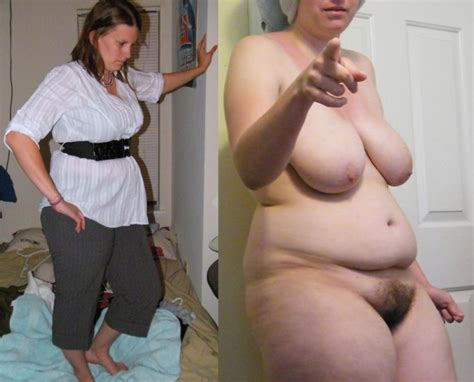 Dressed And Undressed Bbw Amateur Milf With Awesome Bush