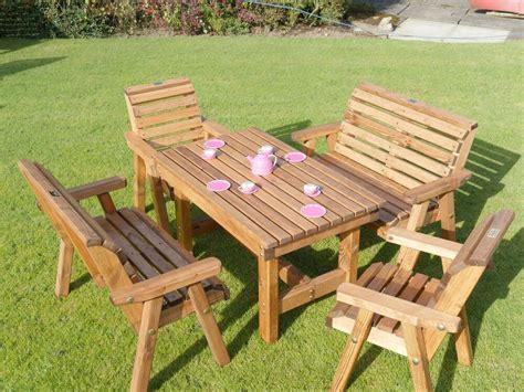 Wooden Patio Furniture Sets by Wooden Childrens Patio Set Outdoor Garden Furniture Ebay