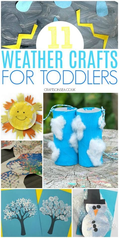 easy  fun weather crafts  toddlers weather