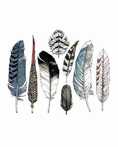 tattly Watercolor Feathers Set Tattoos - Little