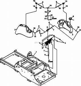 Bunton  Bobcat  Ryan 942313g 26hp B U0026s W  52 Side Discharge Parts Diagram For Fuel Valve  U0026 Cover Plate