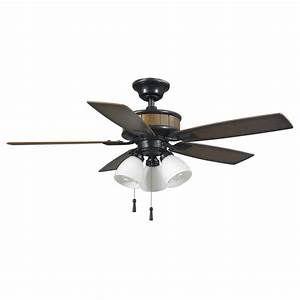 Hampton bay riverwalk in led indoor outdoor natural iron ceiling fan with light kit