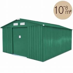 Amazon Abri De Jardin Metal : abri de jardin m tal vert 10 85 m2 kit d 39 ancrage inclus ~ Edinachiropracticcenter.com Idées de Décoration