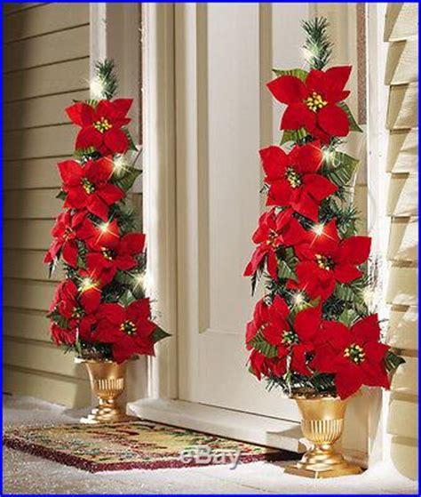how to make a christmas yard poinsettia lighted lighted flat back poinsettia tree decoration yard decor new decor