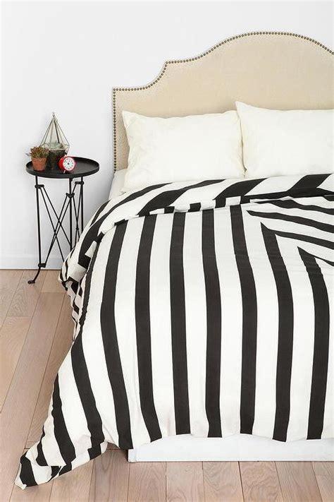 Black And White Striped Duvet Cover by Black And White Striped Geomteric Duvet Cover
