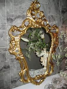Barock Spiegel Gold Antik : wandspiegel gold antik spiegel in jugendstil badspiegel barock 50x76 neu ebay ~ Bigdaddyawards.com Haus und Dekorationen