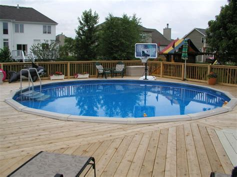 Pool Intex Pool With Deck  Above Ground Pool Deck Plans