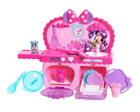 minnie mouse play kitchen disney minnie s bowtastic kitchen playset
