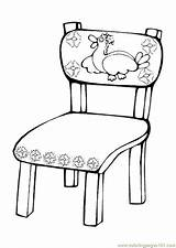 Chair Pages Coloring Ures Coloringpages101 sketch template