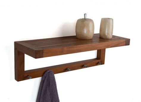 original  moa teak wall shelf  hooks