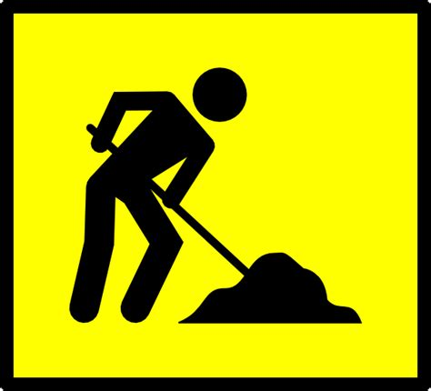 Clipart Work Road Work Clip At Clker Vector Clip