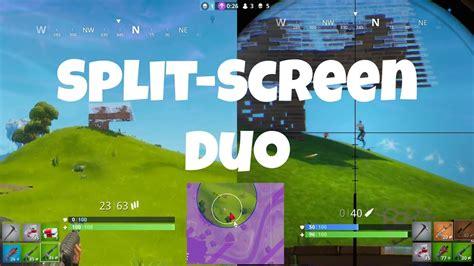 fortnite split screen duo youtube