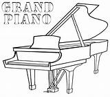 Piano Coloring Grand Pages Printable Drawing Keys Cartoon Games Baby Template Game Trumpet Play Guitar Music Tuba Coloringgames Floor Plan sketch template