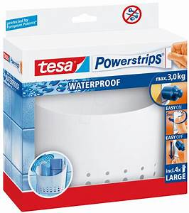 Tesa Powerstrips Waterproof : tesa 59706 tesa powerstrips waterproof large basket white at reichelt elektronik ~ Orissabook.com Haus und Dekorationen