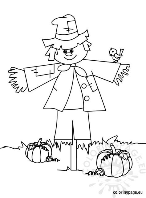 scarecrow coloring page coloring page
